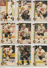 1992-93 Pro Set VANCOUVER CANUCKS Team Set - 10 Cards - BURE LINDEN MCLEAN