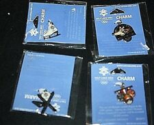 New Winter Olympic Charm Lot Medals Skiis Ice Skate & Logo Salt Lake City --UUX