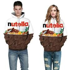 Fashion 3D Nutella Chocolate Graphics Print Sweater Sweatshirt Pullover Hoodies