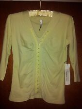 The Ark ladies mid season top pale lime green BNWT  RRP $139 size S