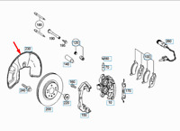 Mercedes-benz Gle W166 Vorne Rechts Schutz Platte A1664210220 Neu Original