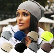 Cappello Doppio Tinta Unita BLEU 100/% Cotone Soft