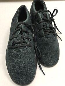 Allbirds Womens Sz 8 Wool Runners Green Dark Green w/ Black Comfort Shoes NEW