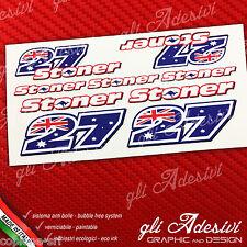 Set 9 Adesivi Stickers STONER 27 Replica name logo