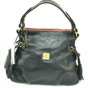 Dooney & Bourke Black Toledo Hobo Shoulder Bag Purse Whip Florentine Tassel NEW
