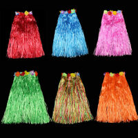 Hawaiian Fancy Dress Hula Grass Skirt Flower Accessories Adult Dance Costume MWU