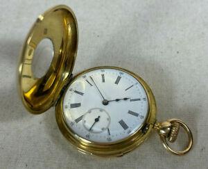Quarter repeater demi hunter 18k gold pocket watch Hunt & Roskell C.1890's 36mm