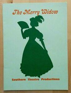 The Merry Widow programme Southampton Gaumont Theatre 1981 Southern Theatre Prod