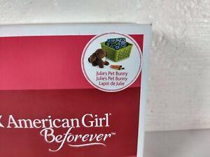 American Girl Beforever Julie's Pet Bunny Nutmeg
