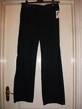 GAP JEANS BLACK COTTON BUTTON DETAIL WIDE LEG SMART TAILORED CHINO TROUSERS - 26