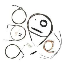 """La 18""""-20"""" Ape Midnight Complete Cable Line Kit for Harley 2014-16 XL w/o ABS"""
