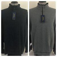 NWT Polo Ralph Lauren Mens XL Reversible Gray 1/4 Zip Sweatshirt $99