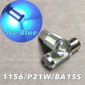 Front Turn Signal bulb 1156 BA15S 7506 3497 P21W ICE BLUE SMD LED W1 JAE