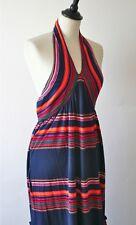 Christian Dior blue halter-neck/ empire waist cotton jersey dress - UK 10/12