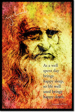 LEONARDO DA VINCI ART PHOTO PRINT POSTER GIFT QUOTE