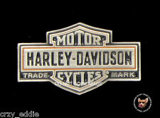 HARLEY DAVIDSON LONG BAR SHIELD VEST PIN ANTIQUE NICKEL FINISH MOTORCYCLE BIKER
