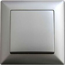 Ein- und Ausschalter Schalter Rahmen Steckdose Silber NEU OVP