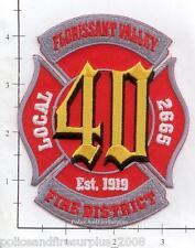 Missouri - Florissant Valley Fire District MO Fire Dept Patch  Local 2665