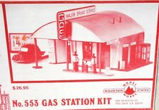 Mountain Models Old Style Gas Station Kit - HO Scale
