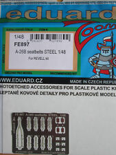 Eduard 1/48 FE897 Colour Steel Etch Seatbelts for the Revell A-26B Invader kit