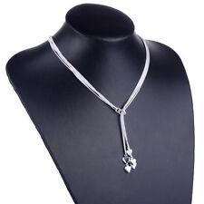 Damen Schmuck Herz Halskette Collier mit 5 Herzen 925 Silber Geschenkidee