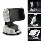 Auto Car Phone Holder Dashboard Stand Crystal Bling Girls Interior Accessory