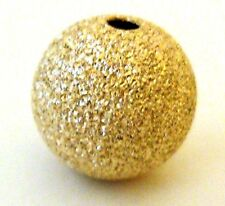 2pcs 12mm 14k Yellow Gold Filled Stardust round seamless bead spacer USA GS21