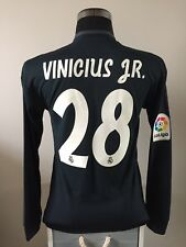 VINICIUS JR #28 BNWT Real Madrid Player Spec L/S Away Football Shirt 2018/19 (S)