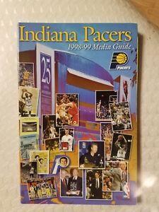 Indiana Pacers 1998-99 Media Guide Paperback Book Reggie Miller Jalen Rose