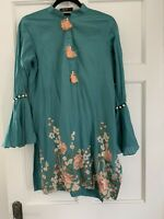 Ladies women's Pakistani Original Cross stitch Baroque Sana Safinaz Kurta Size S