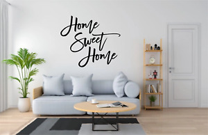 Home Sweet Home Quote Wall Art Decal Sticker Home Decor Q278