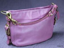 Coach Zoe Magenta Smooth Leather Shoulder Bag Gently Used Free Shipping