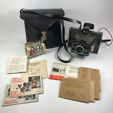 Polaroid Colorpack II Land Camera w Case Polacolor Print Mounts & Flashcubes