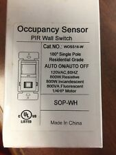 Occupancy Sensor PIR Wall Switch. 120V. NEW SOP-WH