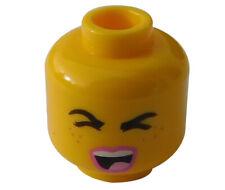 Lego Kopf gelb zwei Gesichter Mann grinst Gangster Gauner Bart 3626cpb2317 Neu
