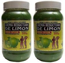 2x Crema REDUCTORA DE LIMON / Lemon Body Wrap Cream Made In MEXICO 18 Oz Each