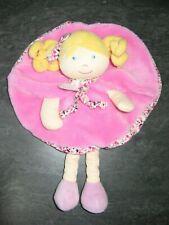 doudou poupée rose fleur les demoiselles doudou et compagnie état neuf