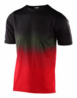 Troy Lee Designs 2020 Skyline MTB Jersey Stain'd Black/Red All Sizes