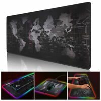 Led Gaming Mouse Pad With Lights Light Lighted Up Color Changing Large Extented