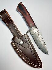 Custom Handmade Full Damascus Steel Fixed Blade Full Tang Skinner Knife