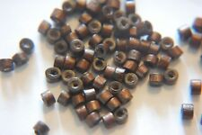 100 x Wood WOODEN Beads ~ 4x3mm ~ Mini Tube ~ Great Spacers ~ Dark Brown