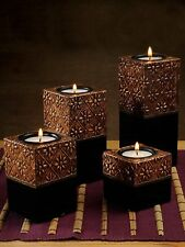 Indiancraft Hand-crafted Festival Gift Candle Holders Set of 5 Copper