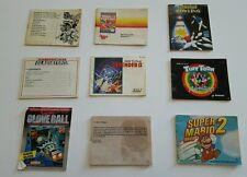 LOT of 9 Nintendo booklets manuals. Mario 2, Mario 3, Ninja Turtles Arcade,