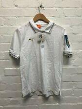PUMA Italy Football Men's FIGC Polo Shirt - White - New