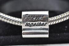 925 plata esterlina encanto Fit europeo pulsera del grano para siempre juntos Espaciador Nuevo