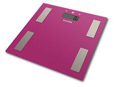Salter Body Fat Scale - Ultra Slim Glass Electronic Digital Bathroom Scale Pink