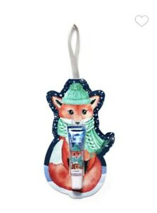 Merry Cookie FOX Gift Tag Lip Gloss with Ornament Hanger Bath & Body Works