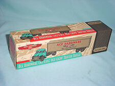 NEW O Scale ERTL ACE HARDWARE 1950 Chevy Tractor Semi Trailer Truck Diecast 1:43