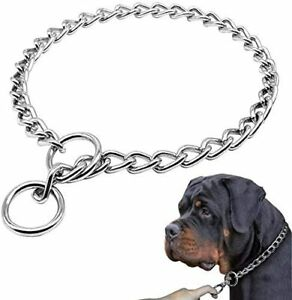Stainless Steel Dog Choke Collar Metal P Chain Slip Pet Training Walking Choker