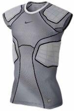 Mens Nike Hyperstrong Football Shirt  808773-100 Grey/Black Brand New Size XL